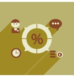 Flat web icon with long shadow business chart vector