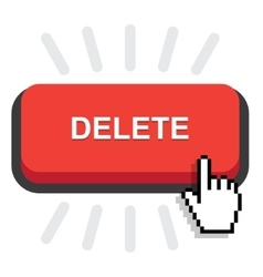 red delete button vector image