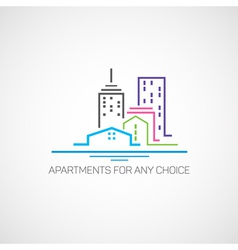 Apartments for any choice vector image