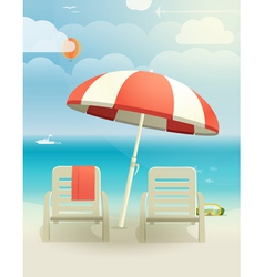 Beach landcape vector