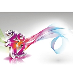 Calendar design 2012 on clear background vector