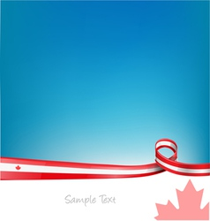 canada background with flag vector image vector image