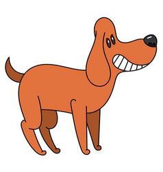Cartoon cute smiles cartoon dog vector