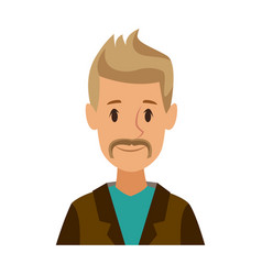 Cartoon man character male profile image vector