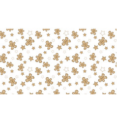 christmas pattern with cute assets vector image vector image