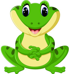 cute frog cartoon vector image vector image