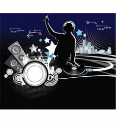 dj music concept vector image