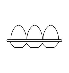 Eggs carton isolated icon vector