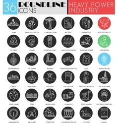 fheavy and power idustry circle white black vector image vector image