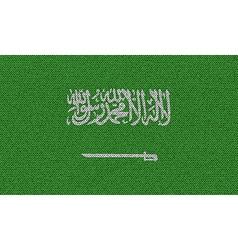 Flags Saudi Arabia on denim texture vector image vector image
