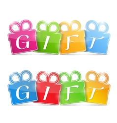 Gift Banners vector image vector image