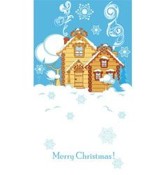 Houses in winter vector