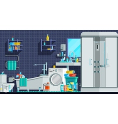 Hygiene icons orthogonal flat composition vector