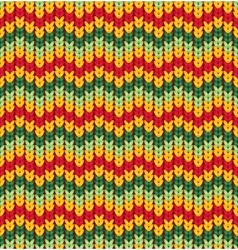 Knitter seamless pattern with stripes and zigzag vector image vector image