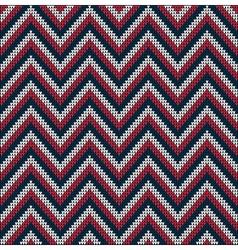 Knitting usa colors pattern sweater battlement vector