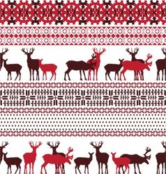 Lapland theme texture vector image vector image