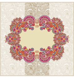 ornamental template with floral background vector image vector image