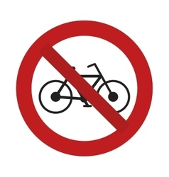 prohibited bicycle transport sport recreational vector image