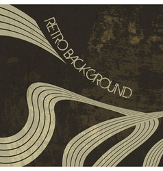 retro background lines vector image vector image