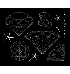Set of diamonds vector