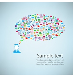 Template design User idea with soccer icon vector image vector image