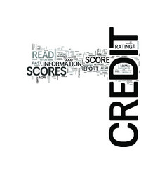 z how to read credit scores text word cloud vector image vector image