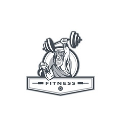 Berserker Lifting Barbell Kettlebell Fitness vector image