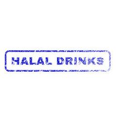 halal drinks rubber stamp vector image