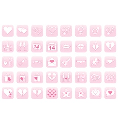 Icons for day of valentine vector