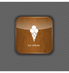 Ice cream application icons vector image