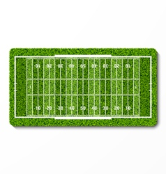 Green grass american football field vector