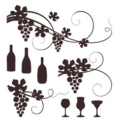 grape design elements vector image