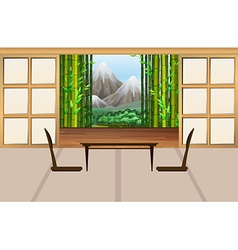 Living room in japanese style vector