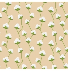 Cotton seamless pattern vector