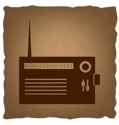 Radio sign vintage effect vector