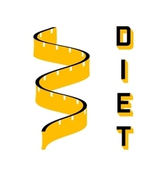 Diet - a symbol of a of a measuring tape vector