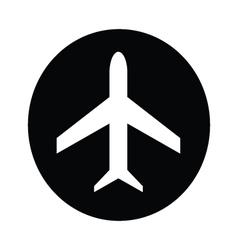 Airplane symbol icon vector image vector image