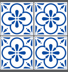Azulejos tiles pattern portuguese seamless vector