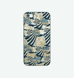 batik phonecase 25 vector image