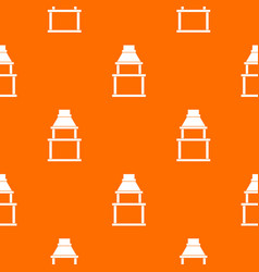 bbq grill pattern seamless vector image