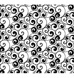 Black seamless pattern silhouette vector image