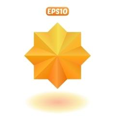 Bright gold star vector
