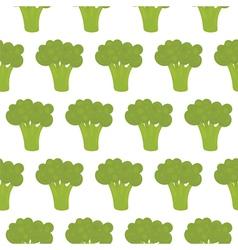 Broccoli seamless pattern vector image vector image