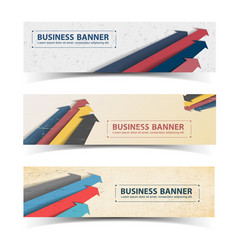 business vintage horizontal banners set vector image