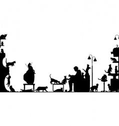 cat room vector image vector image