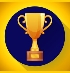 champions gold cup - victory symbol flat style vector image vector image