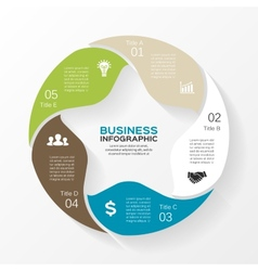 circle star infographic Template for diagram graph vector image