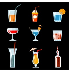 cocktail party icons vector image