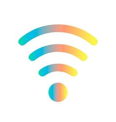 Colored wifi icon vector