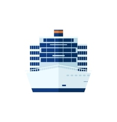 Cruise ship isolated front view vector